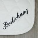 Bestickung Schabracke