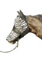 HKM Fliegenmaske Zebra mit Nüsternschutz